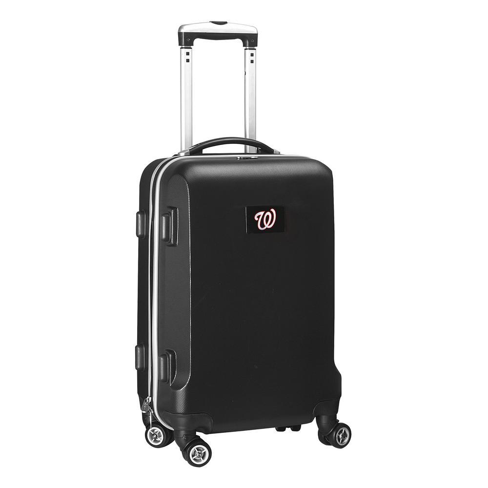 Denco MLB Washington Nationals Black 21 in. Carry-On Hardcase Spinner Suitcase