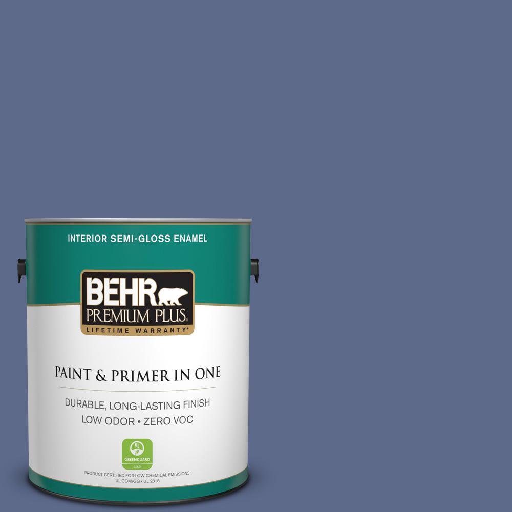 BEHR Premium Plus 1-gal. #S540-6 Dangerously Elegant Semi-Gloss Enamel Interior Paint