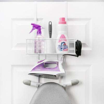 Over-the-Door Iron and Ironing Board Organizer in White
