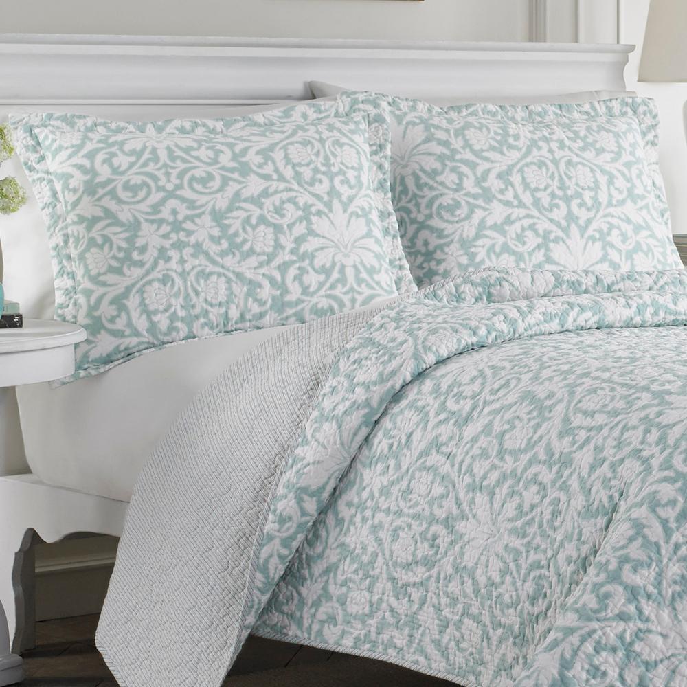 Mia Floral Cotton Quilt Set