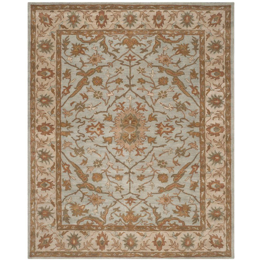 Heritage Light Blue/Ivory 8 ft. x 10 ft. Area Rug
