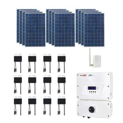 3,180-Watt Expandable Poly-Crystalline PV Grid-Tied Solar Power Kit
