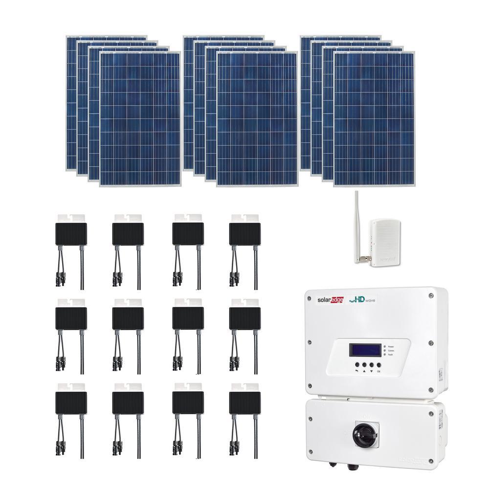 3,180-Watt Expandable Poly-Crystalline PV Grid-Tied Solar Power Kit