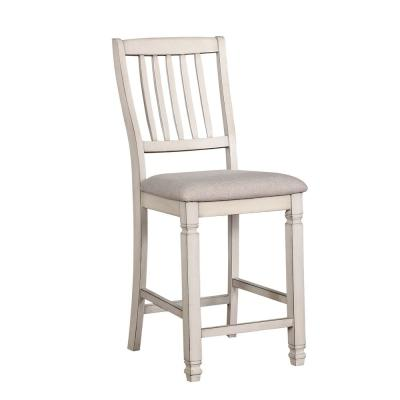Ely White Cushioned Counter Height Dining Chair (Set of 2)
