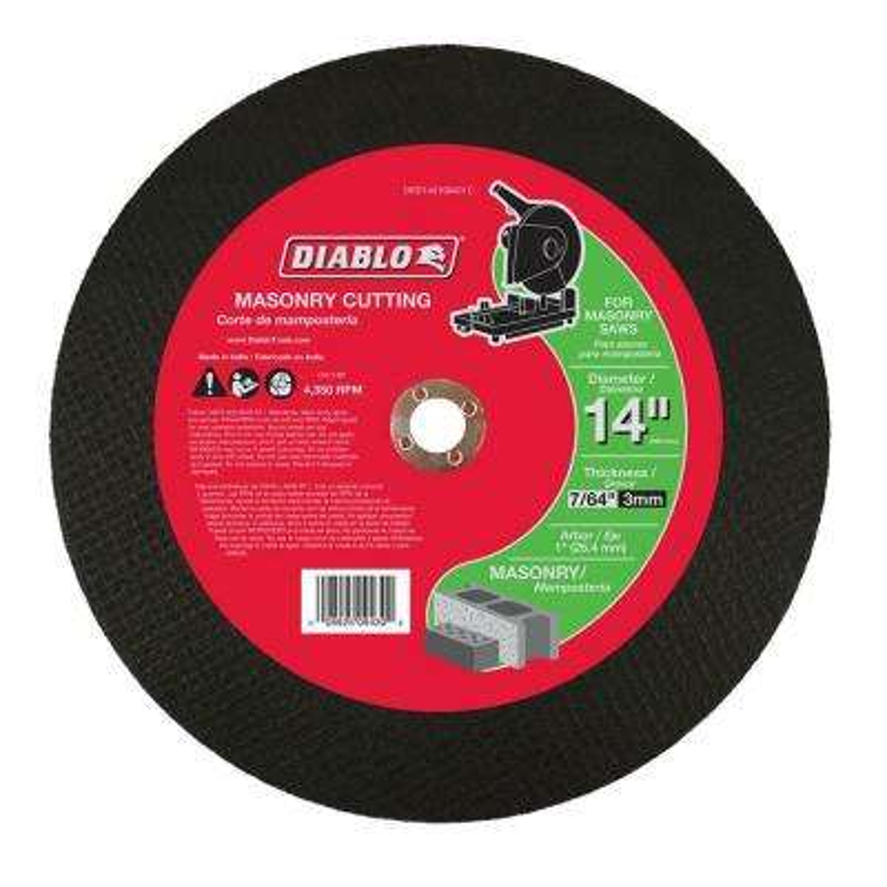 14 in. x 7/64 in. x 1 in. Masonry Chop Saw Disc