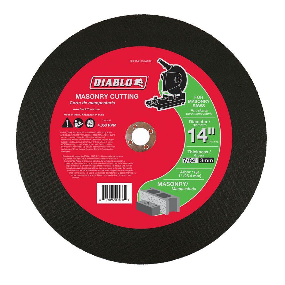 Diablo 14 in. x 7/64 in. x 1 in. Masonry Chop Saw Disc
