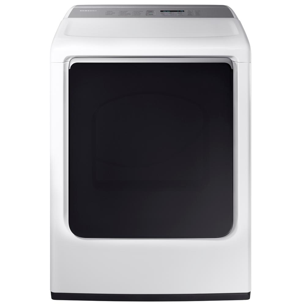 Samsung 74 Cu Ft Electric Dryer With Steam In White