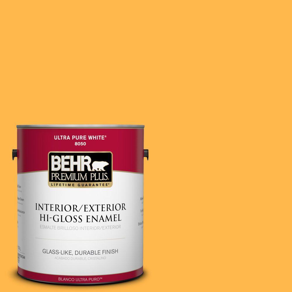 1-gal. #300B-6 Glorious Gold Hi-Gloss Enamel Interior/Exterior Paint