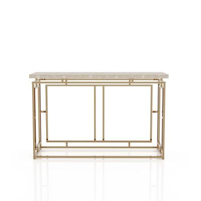 Hull 28.25 in.H Champagne Console Table