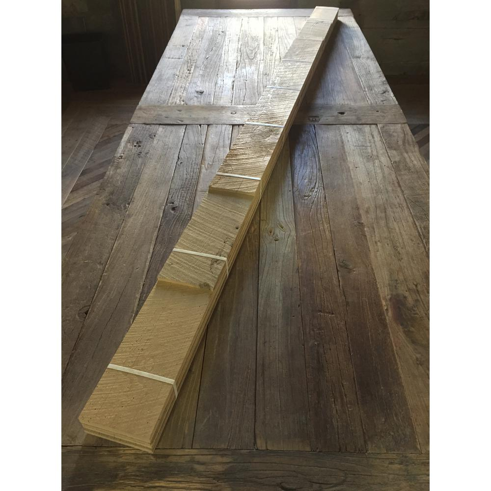 24 Sq Ft 4 1 2 In Wide Original Face Reclaimed Barn Wood Long Plank Wall Paneling Kit Vwfwallplnk Of4 The Home Depot