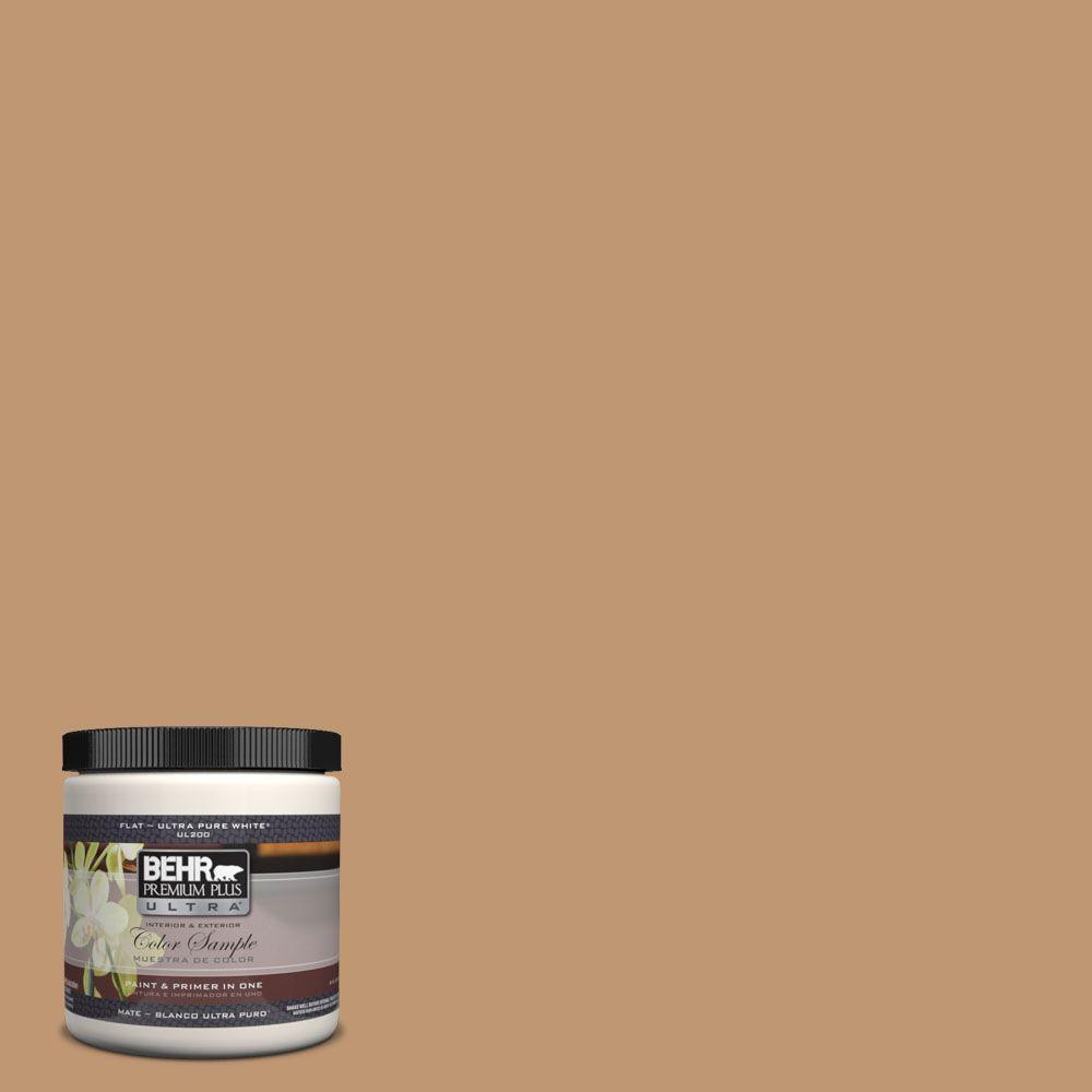 BEHR Premium Plus Ultra 8 oz. #270F-5 Wilmington Tan Interior/Exterior Paint Sample