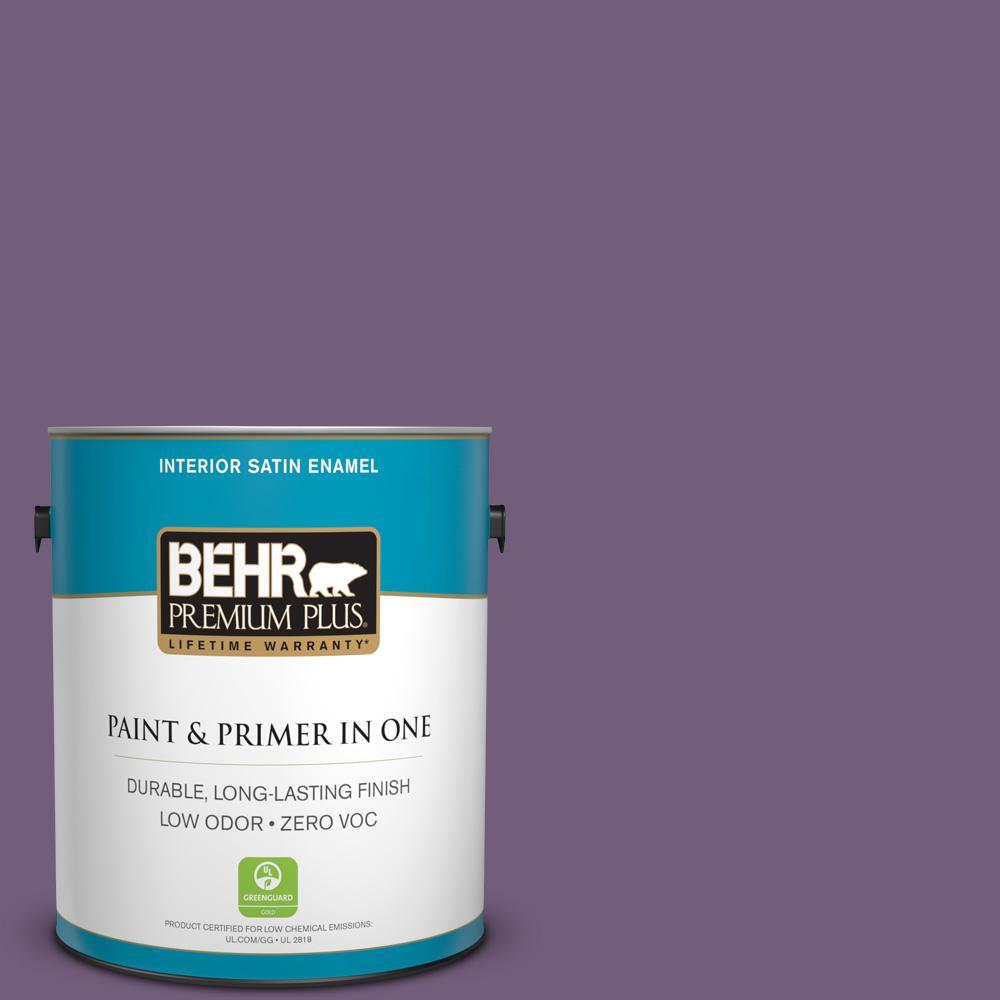 BEHR Premium Plus 1-gal. #660D-6 Zinfandel Zero VOC Satin Enamel Interior Paint