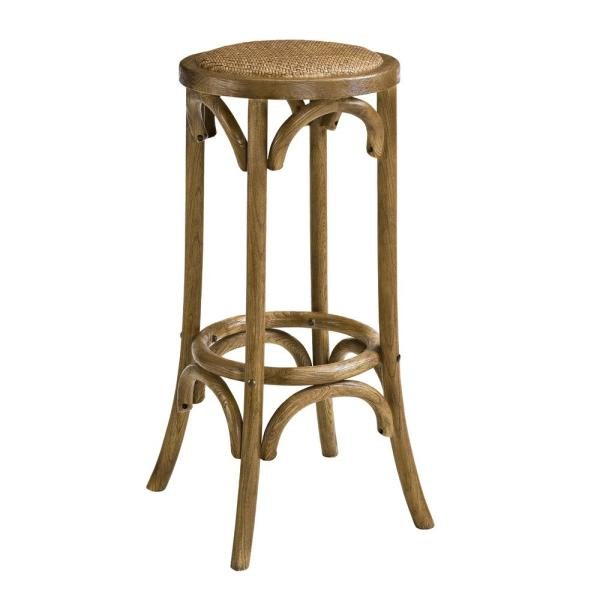 Bradford 30 in. Brown Walnut Backless Bar Stool