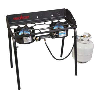 Explorer 2-Burner Propane Gas Grill in Black