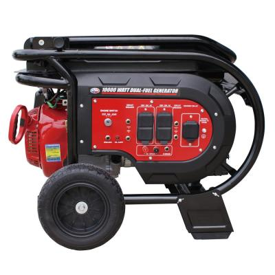 10,000-Watt Dual Fuel Powered Electric Start Portable Generator Relaunched Style