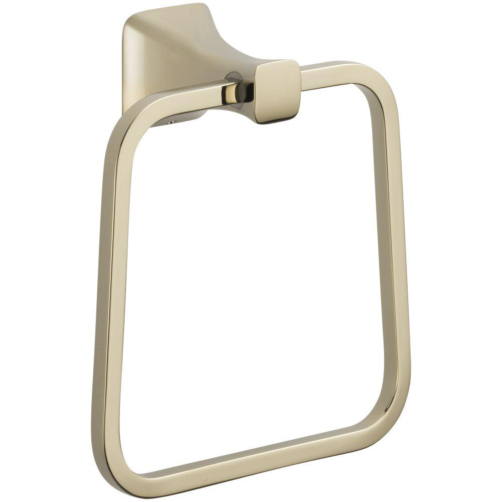 Tesla Towel Ring in Polished Nickel