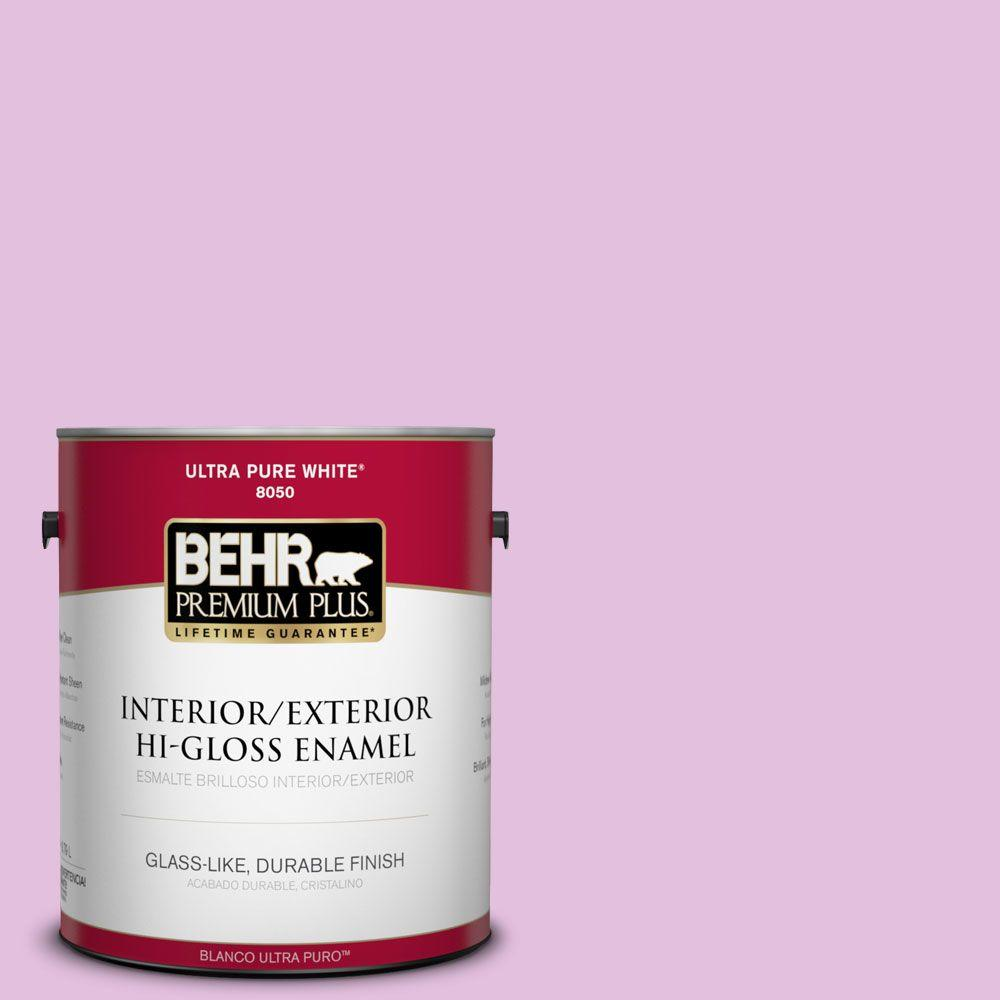 BEHR Premium Plus 1-gal. #P110-2 Girl Talk Hi-Gloss Enamel Interior/Exterior Paint