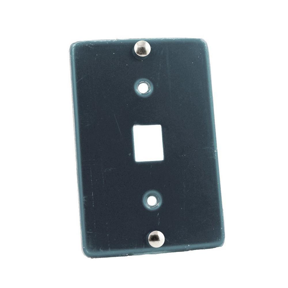leviton 6p6c type 630a wall phone jack stainless steel. Black Bedroom Furniture Sets. Home Design Ideas