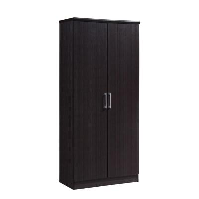 2-Door Chocolate Armoire with Shelves