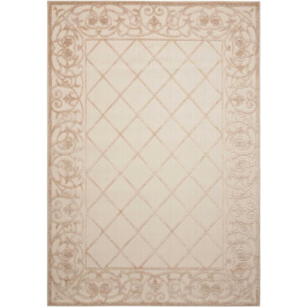 Aloha Cream 4 ft. x 6 ft. Indoor/Outdoor Area Rug