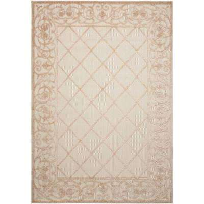 Aloha Cream 10 ft. x 13 ft. Indoor/Outdoor Area Rug