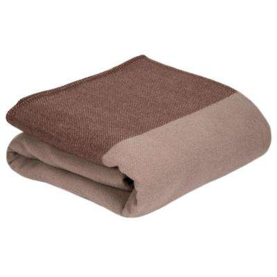 Brown 100% Australian Wool King Blanket