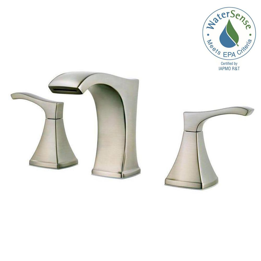 Widespread 2 Handle Bathroom Faucet In Brushed Nickel