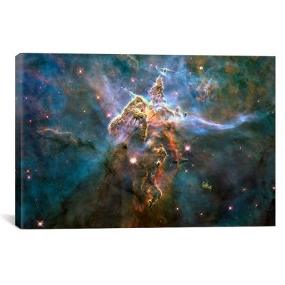 """Mystic Mountain in Carina Nebula (Hubble Space Telescope)"" by NASA Canvas Wall Art"