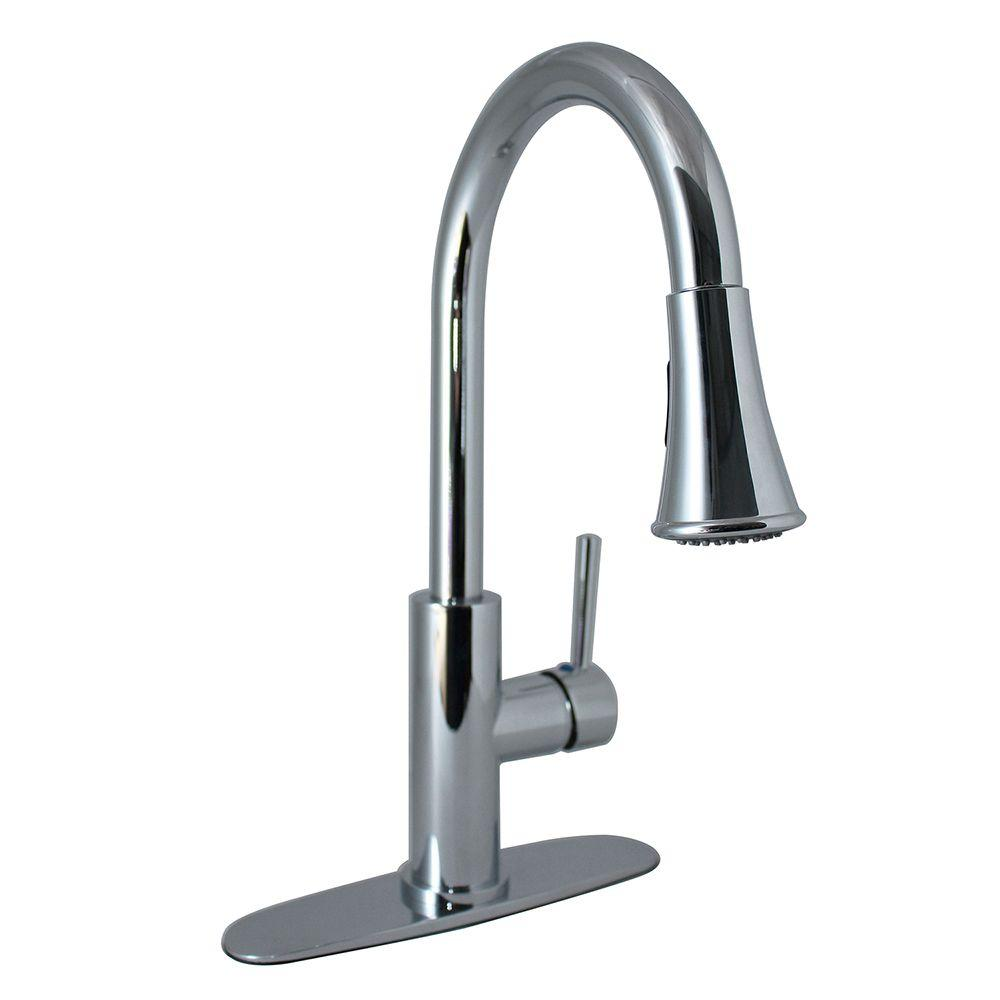 Tosca  Handle Wall Mount Pull Down Sprayer Kitchen Faucet