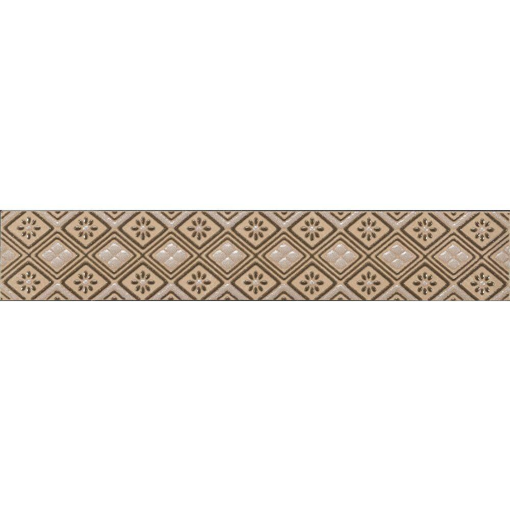 Favrales Beige 1-3/4 in. x 10 in. Ceramic Wall Listello Tile
