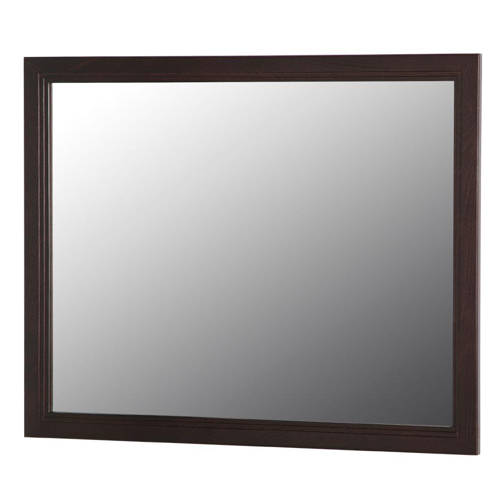 Home Decorators Collection Brinkhill 32 In W X 26 In H Wall Mirror In Chocolate Bwwm26 Ch