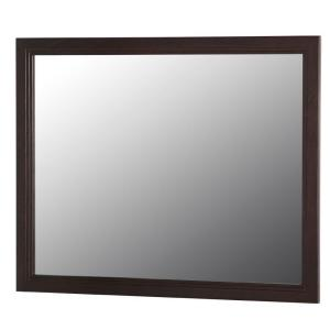Home Decorators Collection Brinkhill 32 inch W x 26 inch H Wall Mirror in Chocolate by Home Decorators Collection