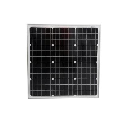 50-Watt Monocrystalline Solar Panel for 12-Volt Battery Charging