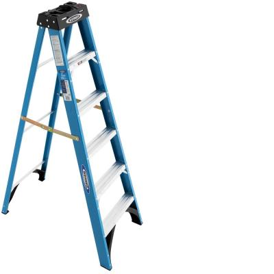 6 ft. Fiberglass Step Ladder with 250 lb. Load Capacity Type I Duty Rating