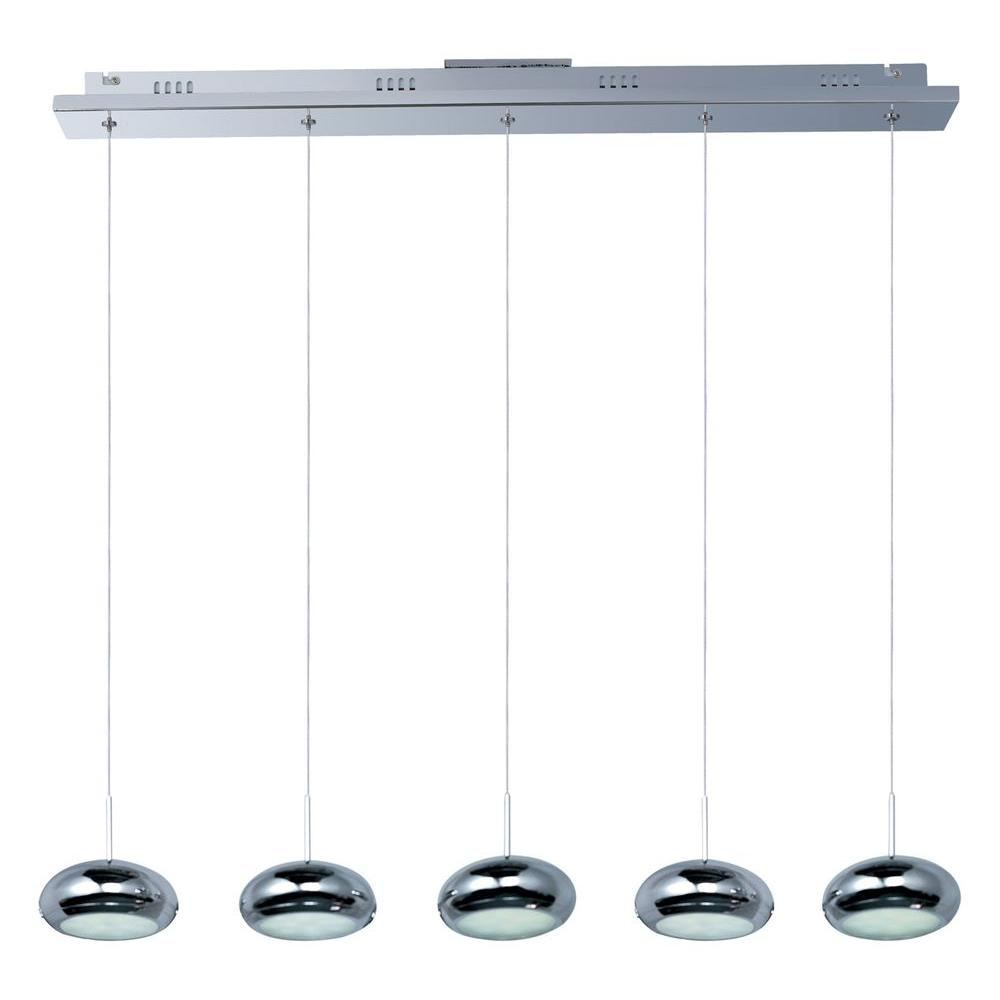 Filament Design Coit 5-Light Polished Chrome LED Ceiling Pendant