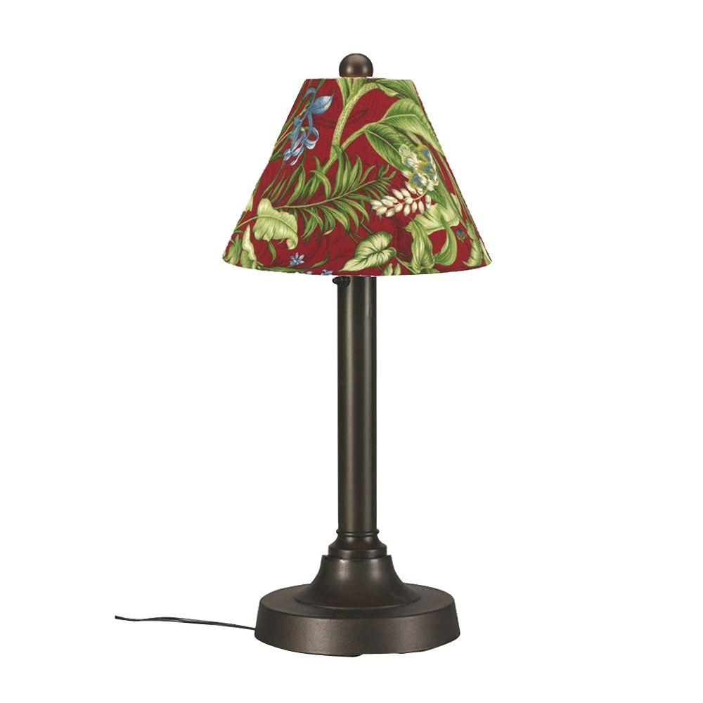 Patio Living Concepts San Juan 30 in. Bronze OutdoorTable Lamp with Lacquer Shade