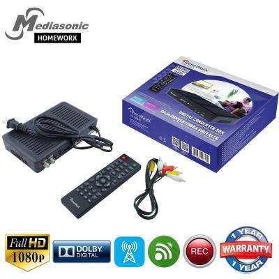 HOMEWORX HDTV ATSC Digital Converter Box with TV Recording, Media Player Function and TV Tuner Function