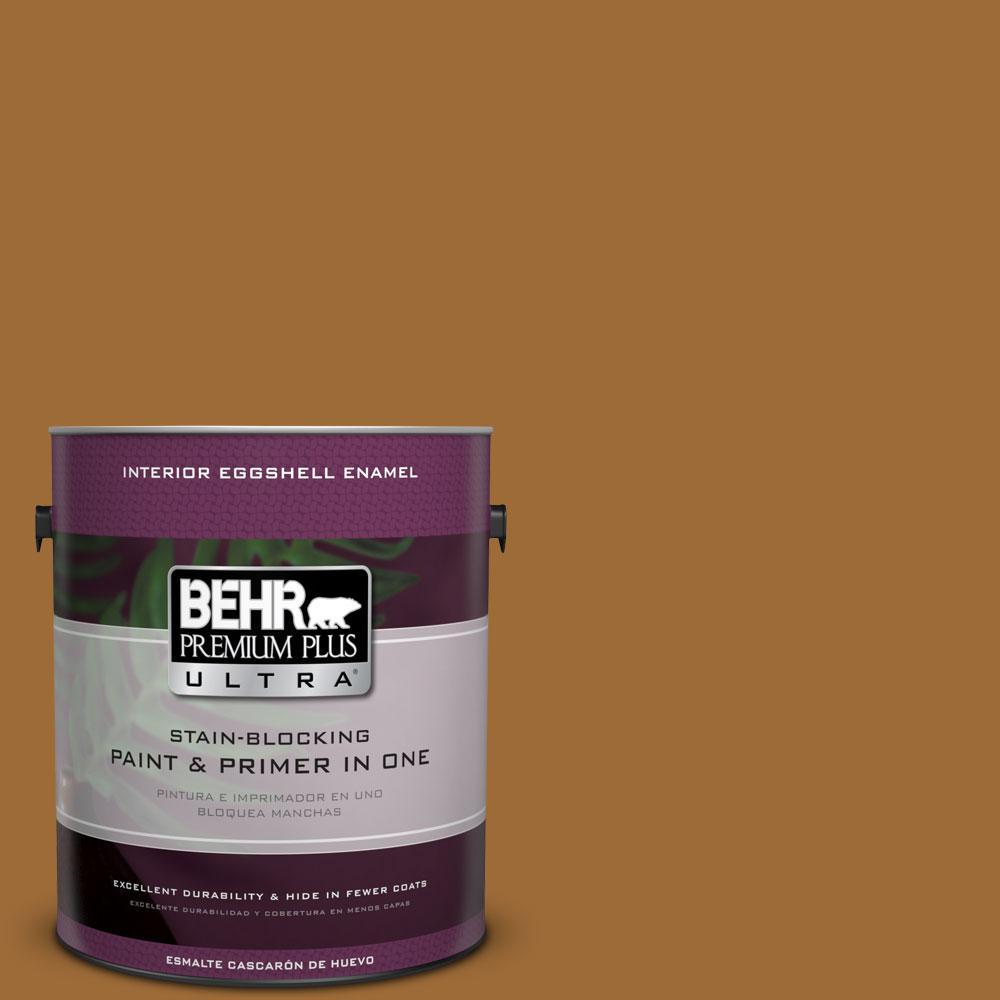 BEHR Premium Plus Ultra 1-Gal. #PPU6-1 Curry Powder Eggshell Enamel Interior Paint