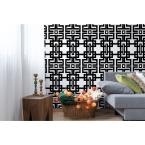 Mitchell Black The Blush Label for Mitchell Black Collection Azteca in Black Removable and Repositionable Wallpaper