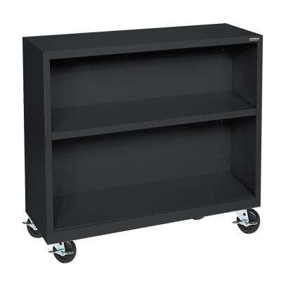 Black Mobile Steel Bookcase