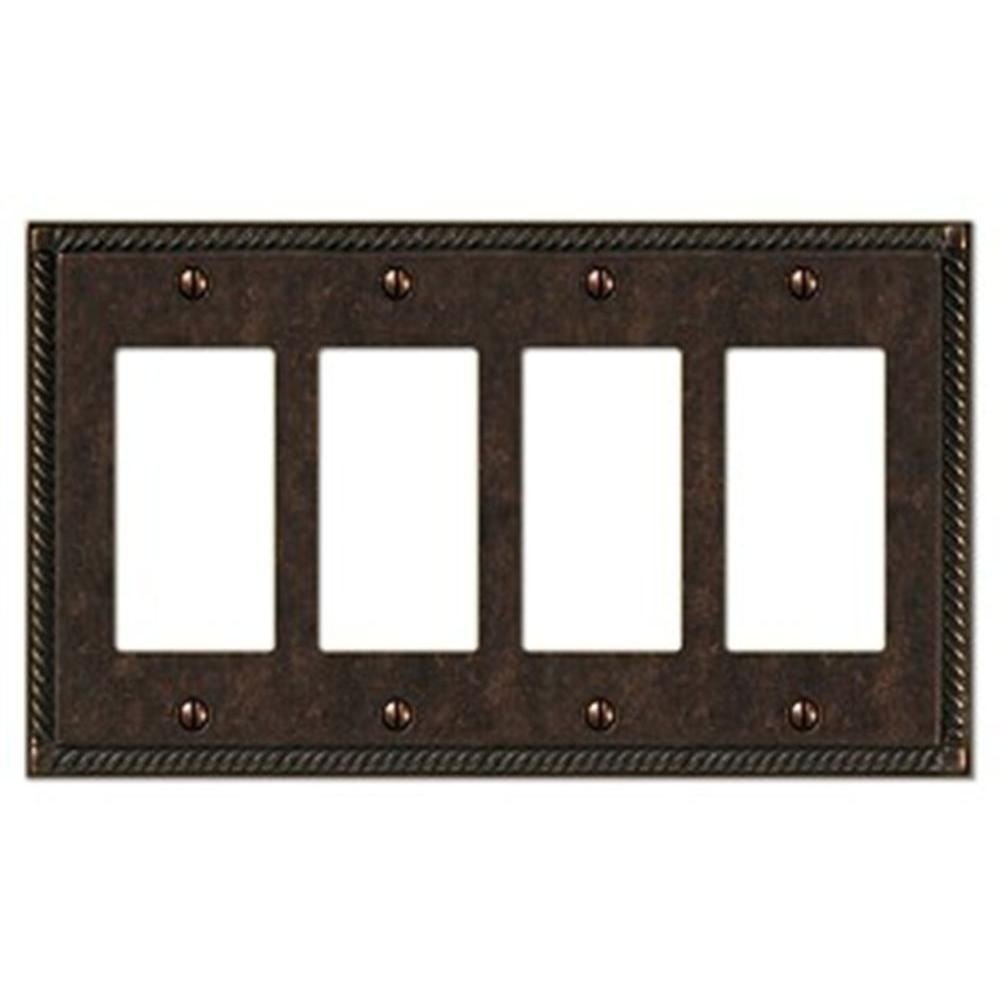Creative Accents Tuscan 4 Decora Wall Plate - Antique Bronze