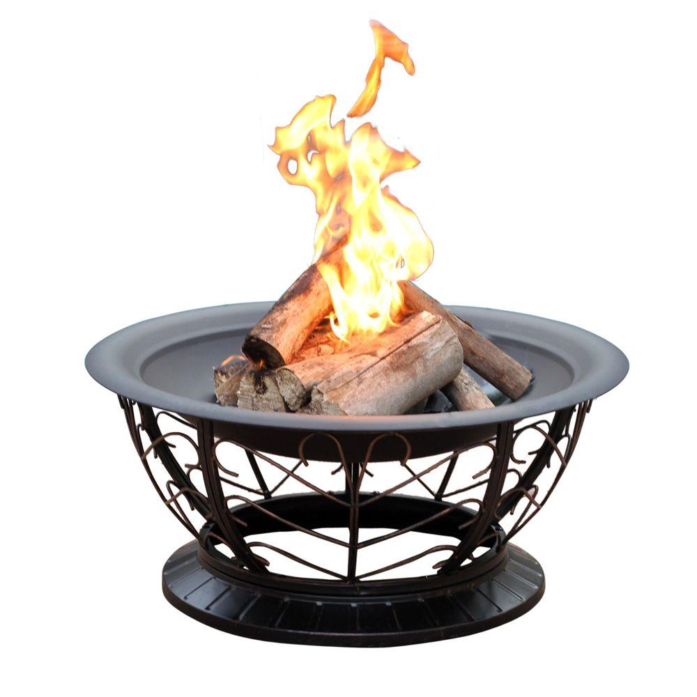 Jeco 30 in. Scroll Steel Fire Pit