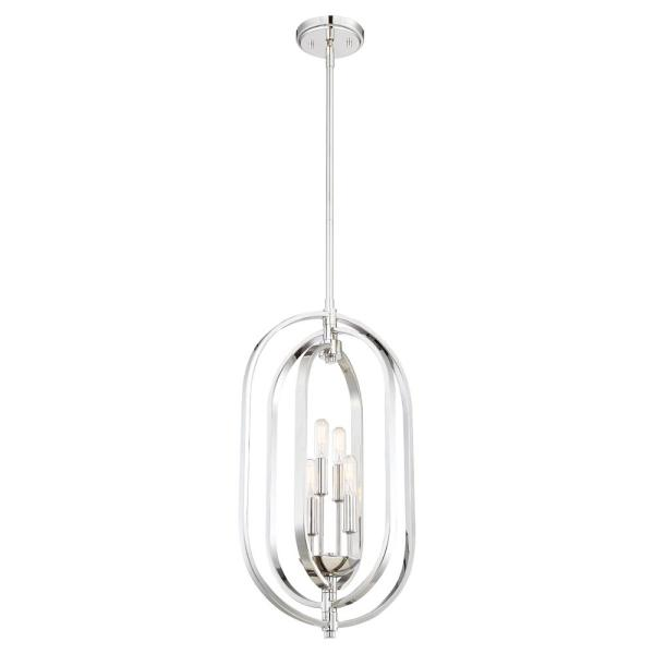 Kenzo 4-Light Polished Nickel Pendant