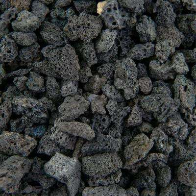 17 cu. ft. 3/8 in. Black Lava Bulk Landscape Rock and Pebble for Gardening, Landscaping, Driveways and Walkways