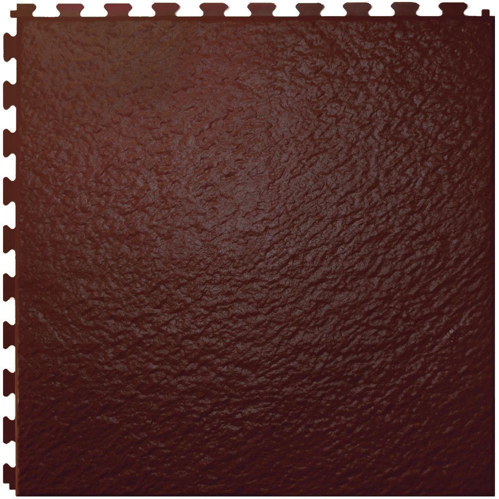 IT-tile Slate Tuscany Cafe  20 In. x 20 In.  Vinyl Tile, Hidden Interlock Multi-Purpose Floor,  6 Tile-DISCONTINUED