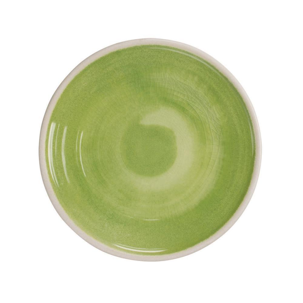 Raku Green Salad Plate