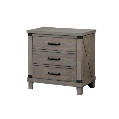 Bianca Gray Rustic Style Night Stand