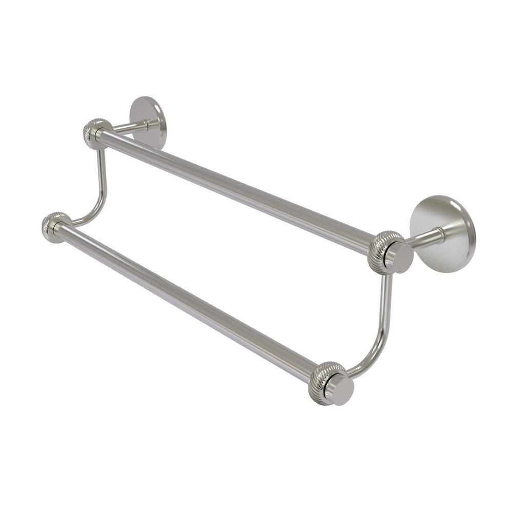 Allied Br Satellite Orbit Two 24 In Double Towel Bar With Twisted Accent Satin