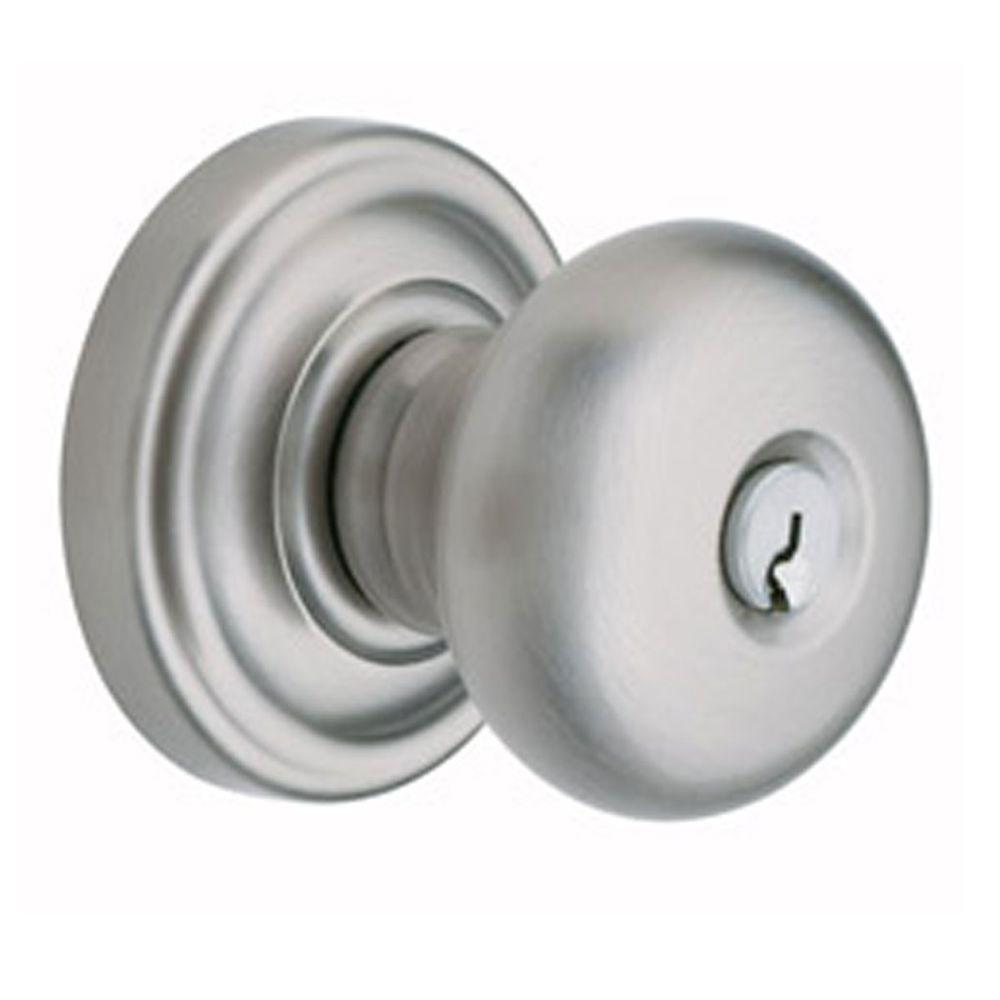 Baldwin Classic Satin Nickel Keyed Entry Door Knob