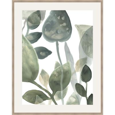 30 in. x 24 in. 'WATER LEAVES I' by June Erica Vess Framed Wall Art